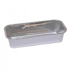 Long aluminium cake tin for brownies, chocolate bars and cakes  - 865 ml - 5 pcs