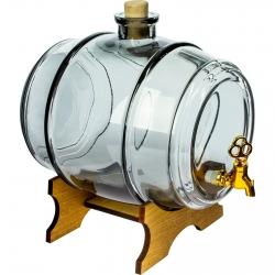 Barril para licores y otras bebidas - Do Pelna (¡Hasta la última gota!) - Gris grafito - 2 litros -