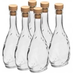 Herbowa (escudo de armas) botella con corcho - 250 ml - 6 piezas -