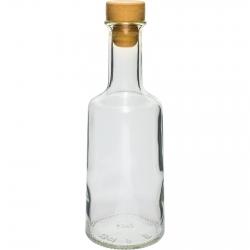 Korgiga Rosa pudel - valge - 500 ml -