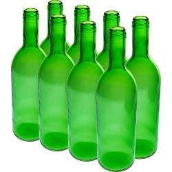 Botella de vino - verde - 750 ml - 8 piezas -