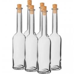 Botellas de licor con corcho - 100 ml - 6 piezas -
