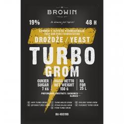 Levadura de destilería Turbo - Grom (Thunder) 48 h - 120 g -