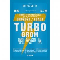 Destilleerija pärm Turbo - Grom (Thunder) 5 - 7 päeva - 85 g -