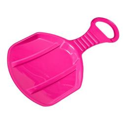 Deslizador de nieve portátil, trineo con asiento trasero - Niño - rosa -
