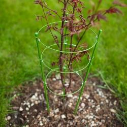 Support végétal à 3 anneaux, treillis de jardin - 0,5 m -
