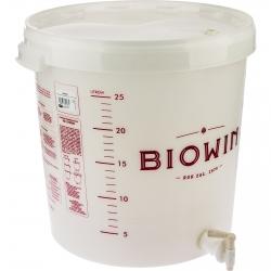 Tarro de fermentación con tapa, grifo y escala de medición - 30 litros -