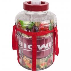 Garrafa con correa y tapa de plástico - para vino, licores y conservas - 8 litros -