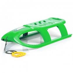 Trineo, trineo, deslizador de nieve Bullet - verde -