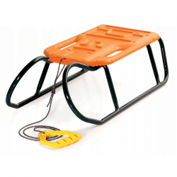 Trineo, trineo, deslizador de nieve Little Beetle - naranja negro -