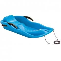 Carrera de trineo, trineo, deslizador de nieve - azul -