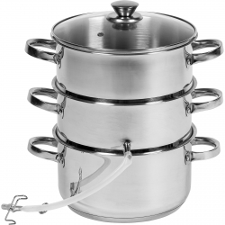 Stainless steel juice steamer - enables preparation of vegetable and fruit juices - for all cooker types including induction  - 5.2 litre