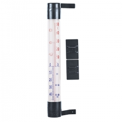 Outdoor thermometer anthracite grey - 230 x 26 mm