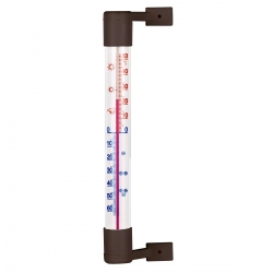 Brown outdoor thermometer - 190 x 18 mm