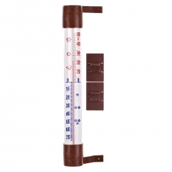 Brown outdoor thermometer - 230 x 26 mm