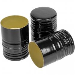 Tapones de rosca de botella negros fi 31,5 mm - 100 uds -