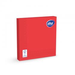 Papīra galda salvetes - 33 x 33 cm - AHA - 100 gab + 20 gab BEZMAKSAS - sarkanas -