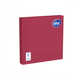 Papīra galda salvetes - 33 x 33 cm - AHA - 20 gab. - Bordo-sarkana -