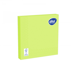 Papīra galda salvetes - 33 x 33 cm - AHA - 20 gab. - laima zaļa -