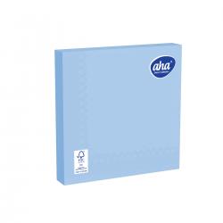 Papīra galda salvetes - 33 x 33 cm - AHA - 20 gab. - zilas -