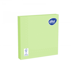 Papīra galda salvetes - 33 x 33 cm - AHA - 100 gab + 20 gab BEZMAKSAS - pistāciju zaļa -