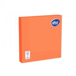 Papīra galda salvetes - 33 x 33 cm - AHA - 100 gab + 20 gab BEZMAKSAS - oranžas -