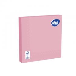 Papīra galda salvetes - 33 x 33 cm - AHA - 100 gab + 20 gab BEZMAKSAS - rozā -