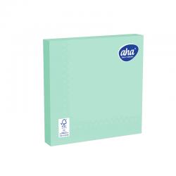 Papīra galda salvetes - 33 x 33 cm - AHA - 100 gab + 20 gab BEZMAKSAS - vītolu zaļa -