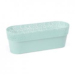 """Caja de balcón """"Rosa"""" con soporte - 50 cm - verde menta -"""