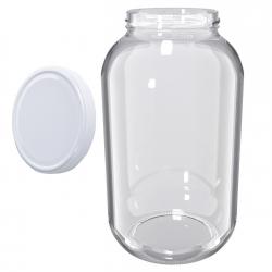 Glass twist-off jar, mason jar - fi 100 - 4.25 l + white lid
