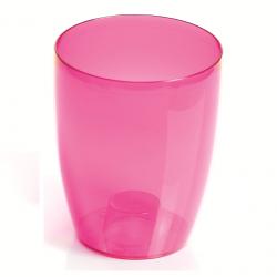 Pot bunga anggrek bulat - Coubi DUOW - 13 cm - Merah muda -