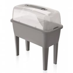 Кућни врт на ногама са прекривачем - мини сет за стакленике Респана Плантер - 77 цм - камено сив -