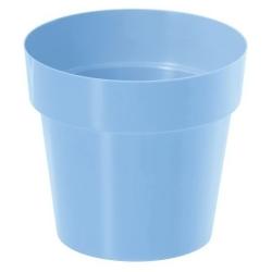 Pot sederhana bulat - 12 cm - biru bayi -
