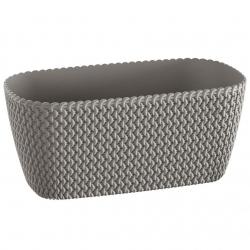 "Caja ""Splofy Case"" - 30 cm - gris piedra -"