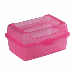 """Food container, lunch box """"Luca"""" - 0.35 litre - fresh pink"""