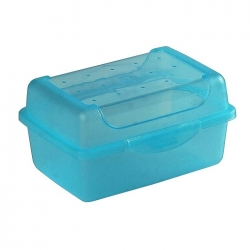 """Food container, lunch box """"Luca"""" - 0.35 litre - fresh blue"""