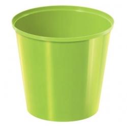 إناء دائري بسيط - 13 سم - أخضر ليموني -