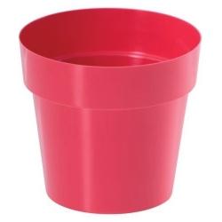 Круглый простой горшок - 12 см - малиново-красный -