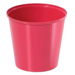 Pot sederhana bulat - 13 cm - merah raspberry -