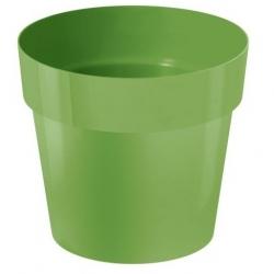 Yuvarlak basit saksı - 14 cm - zeytin yeşili -