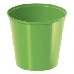 Круглый простой горшок - 13 см - оливково-зеленый -