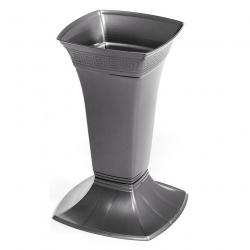Цементарна ваза мала - Етна - Графит -