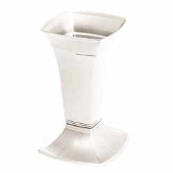 Цементарна ваза мала - Етна - Бели бисер -