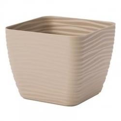 """Vỏ nồi vuông """"Sahara petit"""" - 11 cm - cà phê latte -"""