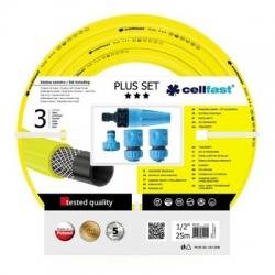 "25-m PLUS ½"" garden hose with a connector set - CELLFAST"