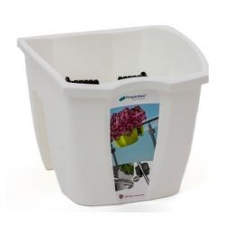 """Balkónový box """"Crown"""" na zábradlie - biely - 24 cm -"""