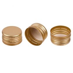 كبسولات سابقة التخييط للفودكا وزجاجات المسكرات وقوارير الورك - ذهبية - 100 قطعة -
