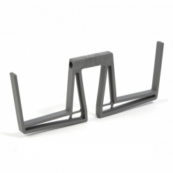 """Lobelia"" double balcony box holder - anthracite-grey - 2 pieces"