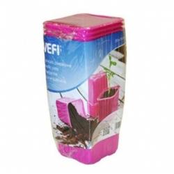 Pink 8 x 8 cm square nursery pot - 20 pieces