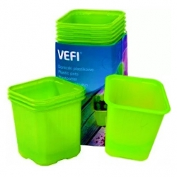 Green square 6 x 6 cm nursery pots - 30 pieces
